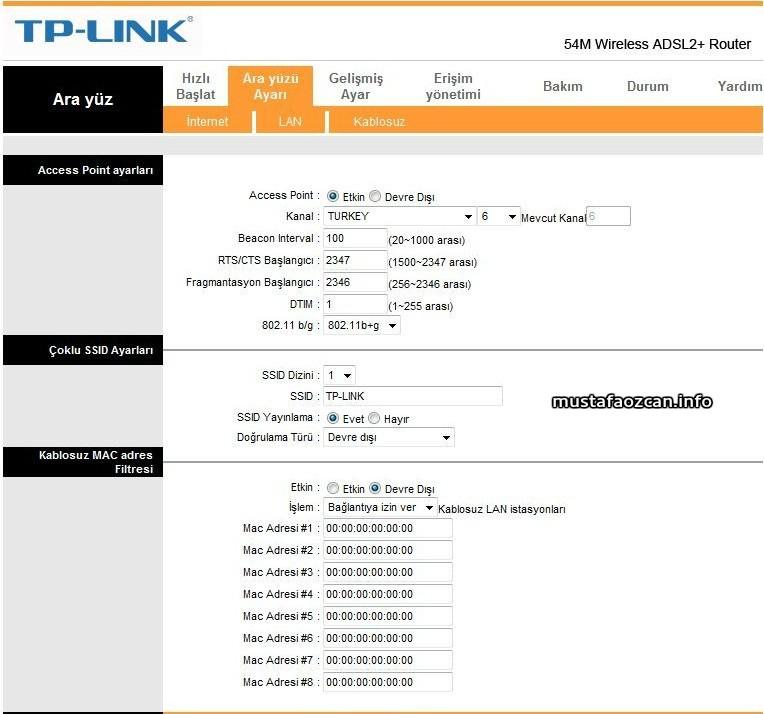 TP Link Modemlerde Kablosuz Wifi Şifremi nasıl değiştirebilirim?