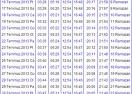 2013 Yozgat İmsakiyesi - Yozgat İftar Vakti - Sahur Saatleri