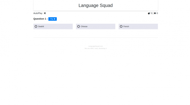 LanguageSquad Great Language Game : Dil Tahmin Oyunu